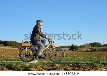 a farmer who returned the farmer's market  - stock photo