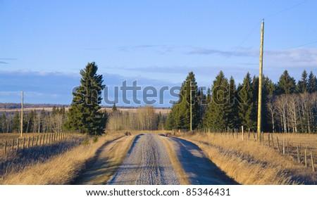 a farmers field as background, Alberta, Canada - stock photo