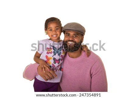 A father with his preschool daughter - stock photo