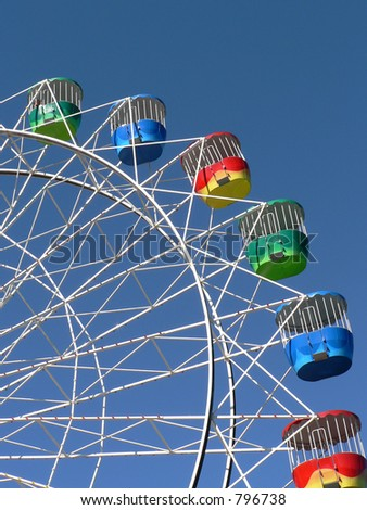 a ferris wheel at a fun park