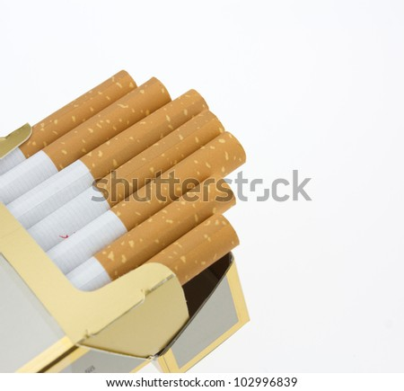 A few cigarettes on a white background - stock photo