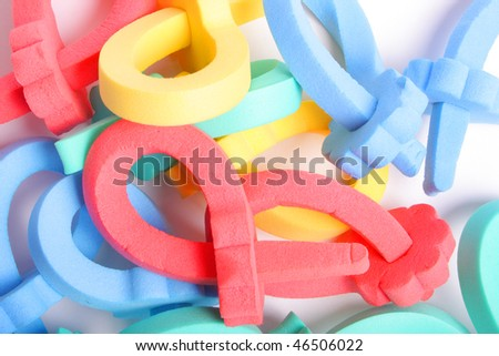 A few curler on white background (isolated)