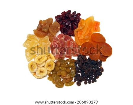 a few dried fruits - stock photo