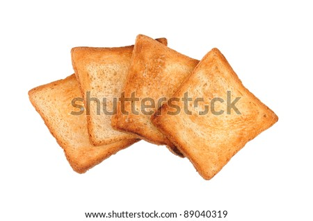 a few of toast bread isolated