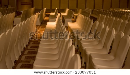 a few rows of chairs background