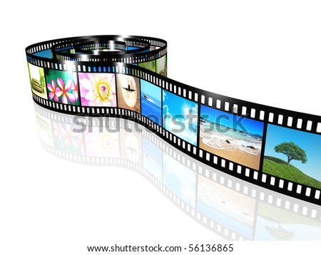 a film strip with nice pictures - stock photo