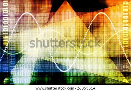 A Finance Spreadsheet Tech Graph Art Background - stock photo