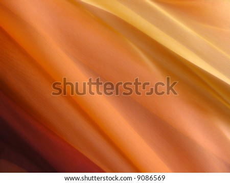 A fine texture of soft multicolored silk. A natural material - stock photo