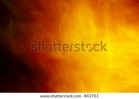 A fire flame. - stock photo