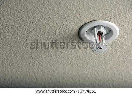 A fire sprinler in a residential home - stock photo