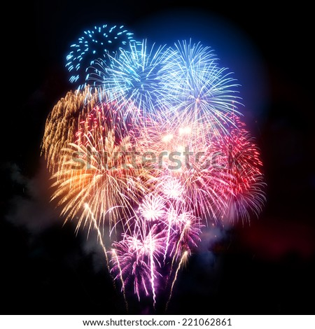 A fireworks display for all types of celebrations - stock photo
