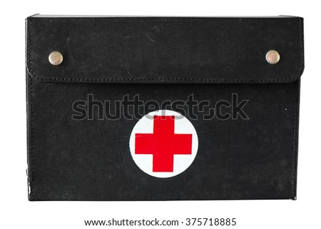 A First Aid Box isolated on a white background.