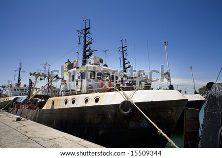A fishing boat on dock
