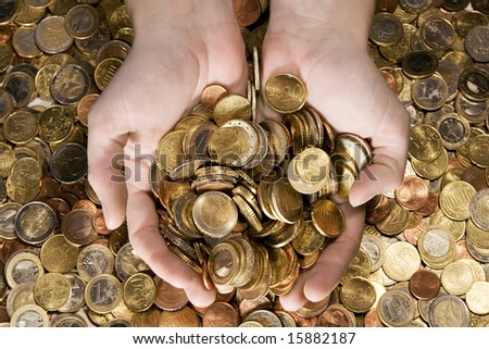 A Fistful of Money - stock photo