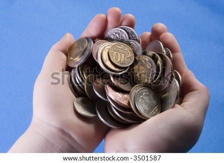 A Fistful of Money - stock photo
