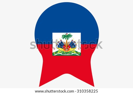 A Flag Illustration inside a Rosette of the country of Haiti