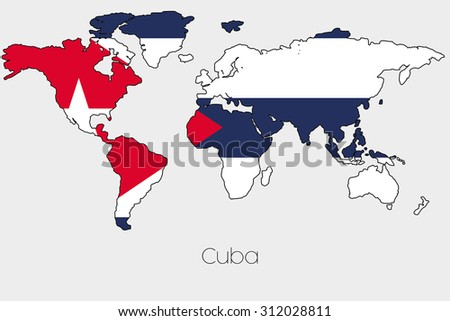 Stock images royalty free images vectors shutterstock a flag illustration inside the shape of a world map of the country of cuba gumiabroncs Gallery