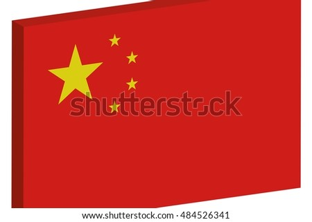 A Flag Illustration of the country of China