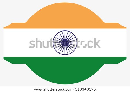 A Flag Illustration within a Sign of the country of  India