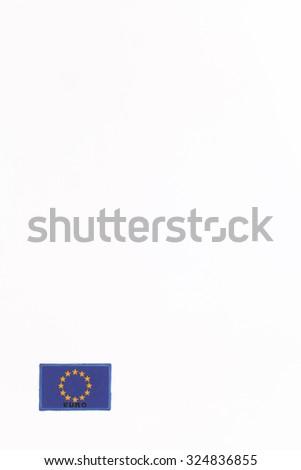 A flag of European Union on white background - stock photo