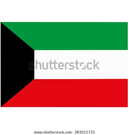 A flag of Kuwait - stock photo