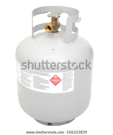 a flammable gas tank