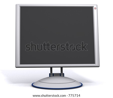 a flat panel lcd computer monitor (w/ message space) - stock photo