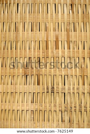 A flat wicker weave suitable as a background texture. - stock photo