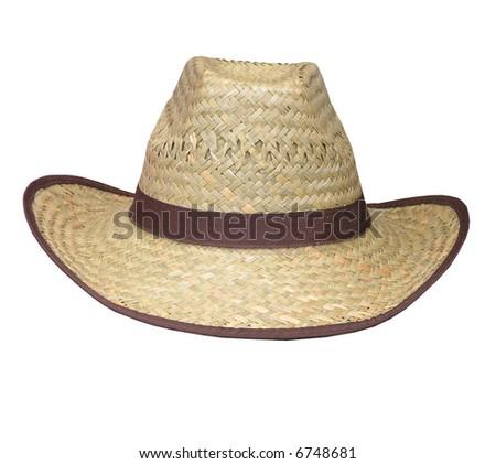 A Flax Woven Stetson - stock photo