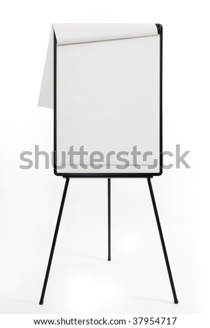 A1 Flipchart, blank - stock photo