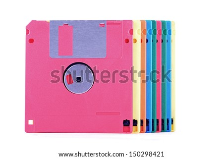 a floppy disk 1.44 mb for a computer under year 2000 - stock photo