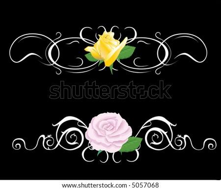 A Floral Design Element (raster version) - stock photo