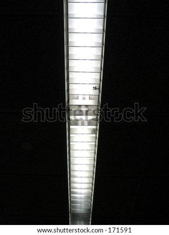 a flourescent fixture, abstract