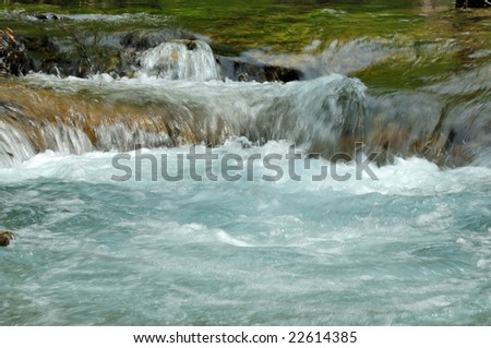 A flow of the source - stock photo