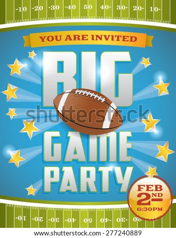 A flyer design perfect for tailgate parties, football invites, etc. - stock photo