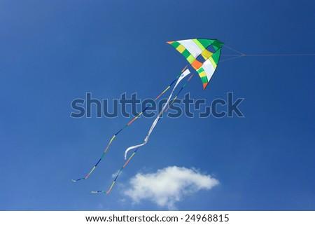 A flying kite - stock photo
