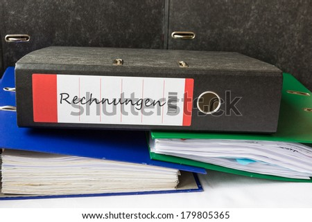 A folder for contracts - stock photo