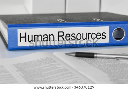 A folder with the label Human Resources