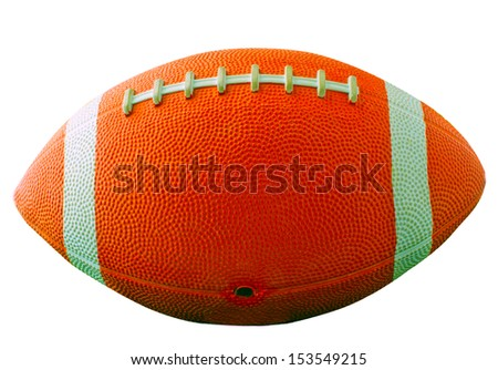 A football for american football isolated over white - stock photo