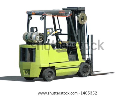 A forklift - stock photo