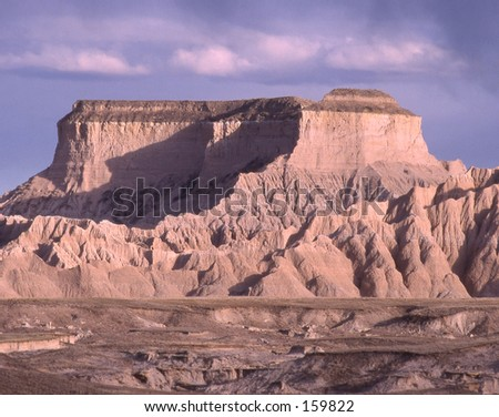 A formation in the SD Badlands. - stock photo