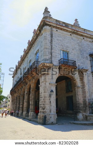 A fort in Old Havana - stock photo