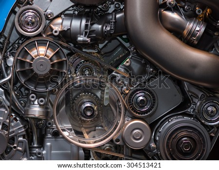 A fragment of the modern engine. - stock photo