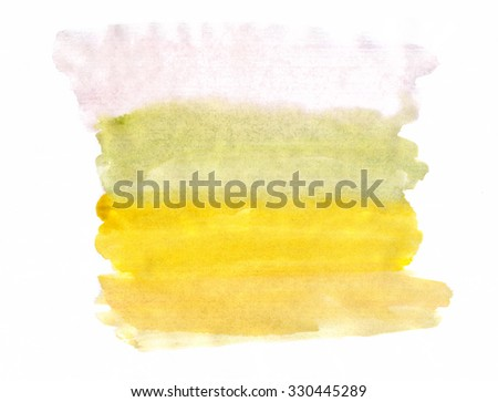 A fragment of the tricolor background painted with watercolors