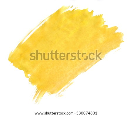 A fragment of the yellow background painted with watercolors