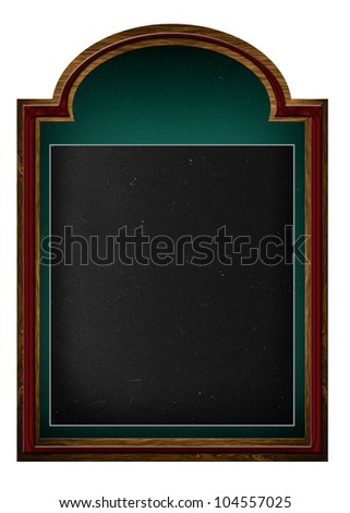 A frame chalkboard, blackboard with clipping path