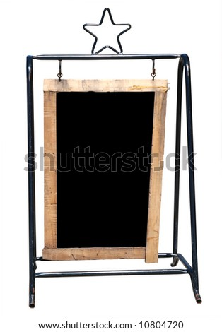 A-frame Notice Board with Copyspace  Isolated with clipping path - stock photo