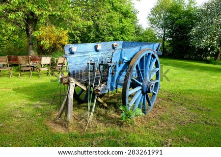 A French Farm Cart - stock photo