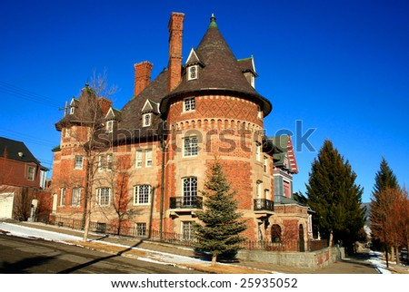 A French-inspired chateau in Butte, Montana - stock photo