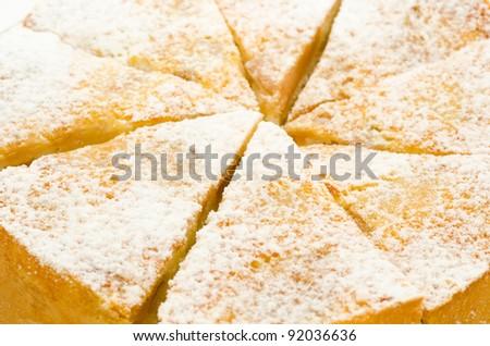 a fresh charlotte cake - a closeup shot - stock photo